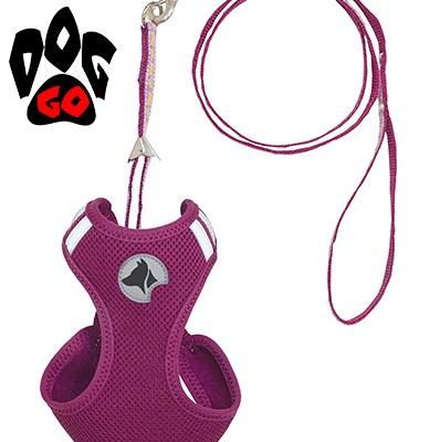Шлея для собак CROCI HIKING PARURE + поводок (нейлон) 18-53 см-2