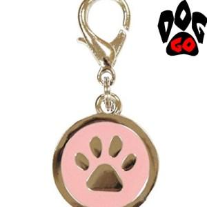Брелок для собак на ошейник CROCI Лапка (металлический, цветной) 25мм-2