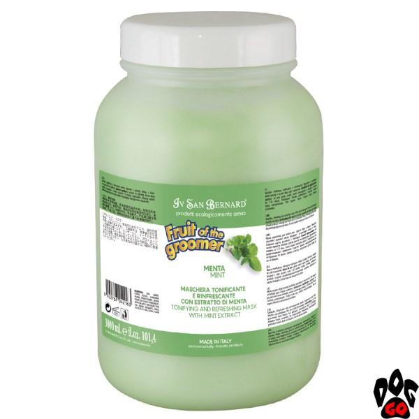 Маска для шерсти собак и кошек Iv San Bernard Mint, с мятой и Витамином В6 (3 л)