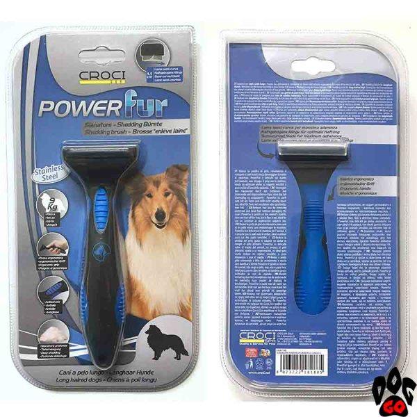 """Фурминатор для длинношёрстных собак CROCI """"POWERfur"""" S (до 9 кг) 4.5 см"""