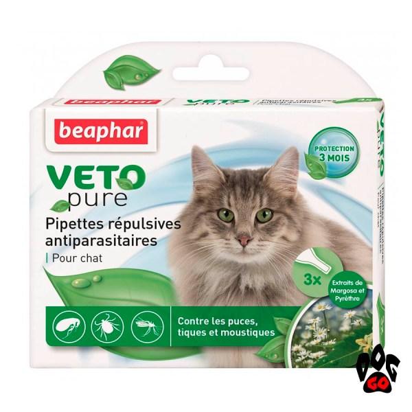 BEAPHAR капли от блох и клещей для кошек Био (3*1 мл)