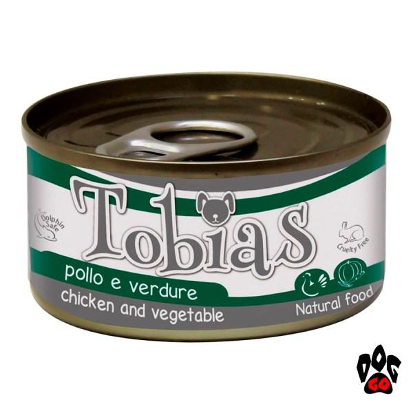 TOBIAS консервы для собак с курицей и овощами CROCI, 170 г