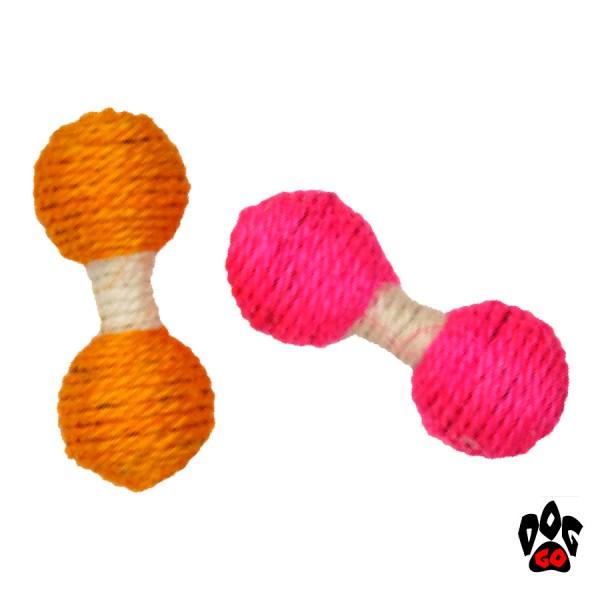 Игрушка для котов Плетеная Гантелька CROCI, сизаль, 13 см