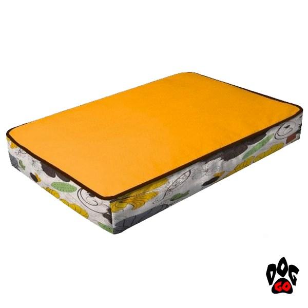 CROCI Подушка для собак COZY FLO, прямоугольная, оранж/цветы, 75x52x10см-1