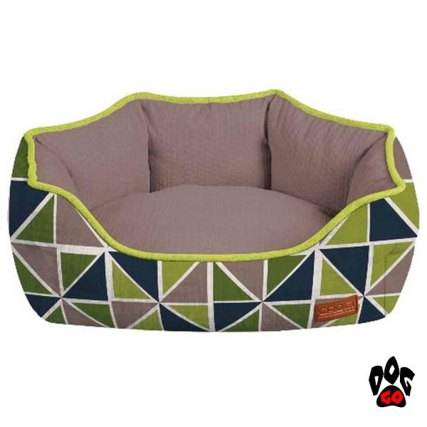 Гнездо для собаки CROCI COZY RAY, овальный, серый+зелено-синий-1