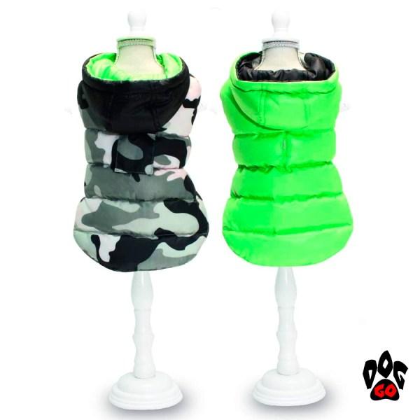 Осенняя куртка для собак CROCI MILITARY GREY, двухсторонняя, облегченная-1
