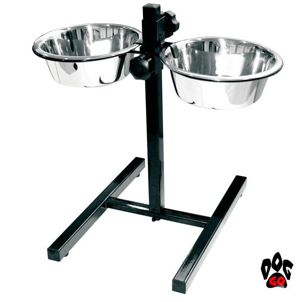 Миски для собак на подставке CROCI DINNER SET, нержавейка, регулируемые-1