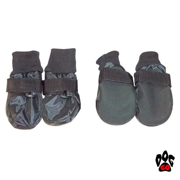 Защитная обувь для собак CROCI на липучке, нескользящая подошва, черные-1