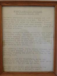 Woman's admission procedure