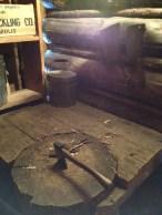 The cutting board.