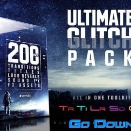 Videohive Ultimate Glitch Pack Transitions Titles Logo Reveals Sound FX Free Download