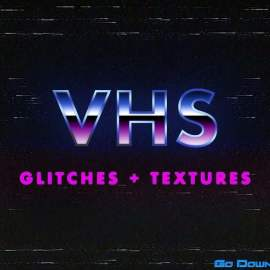 VHS Glitches and Textures Overlay Pack Free Download