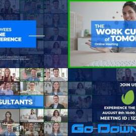 Videohive Online Meeting Video Conference Promo Free Download