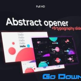 Videohive Abstract Opener | Typography Slides Free Download