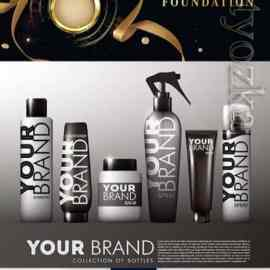 Advertising cosmetic vector template Free Download