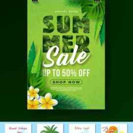 Collection of summer travel and holidays poster and card Free Download