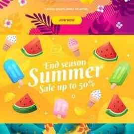 Colorful summer sale backgrounds set Free Download