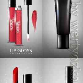 Cosmetic products advertising vector template Free Download