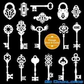 White keys locks set Free Download