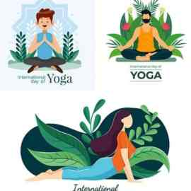 Yoga International day and meditation design illustration 8 Free Download