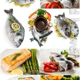 Fish with lemon and spices stock photo Free Download