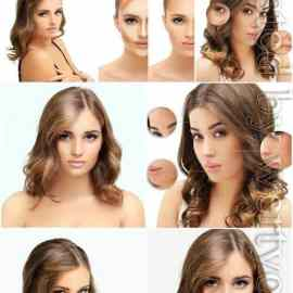 Skin care girls before and after aging stock photo Free Download