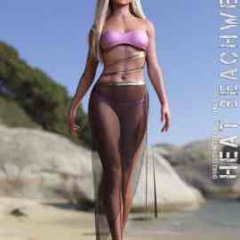dForce Heat Beachwear for Genesis 8 Females Free Download