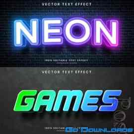 3d editable text style effect vector vol 778 Free Download