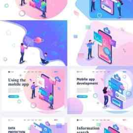 Flat isometric vector 3D concept illustration 43 Free Download