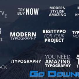 Videohive Modern Typo Pack 32773343 Free Download