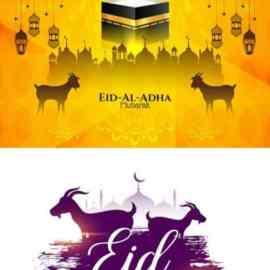 Eid al adha islamic festival banner design vol 2 Free Download
