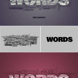 Mixed Text Words Cloud Effect Mockup 387205415 Free Download