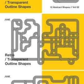 Retro   Transparent Outline Shapes   Vol. 02 Free Download