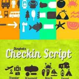Checkin Script Dingbats Free Download