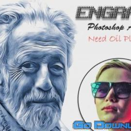 CreativeMarket Engrave Photoshop Action 6213360 Free Download