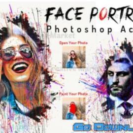 CreativeMarket Face Portrait Photoshop Action 649555 Free Download