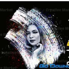 CreativeMarket Paint Dispersion Photoshop Action Free Download