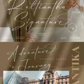 Reltinatha Signature Stylish Script Font Free Download