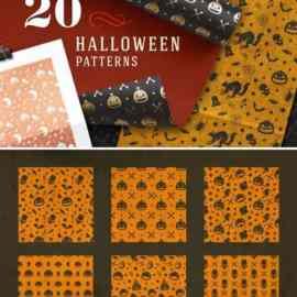 2045 Halloween patterns Free Download
