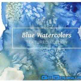 47 Blue Textured Watercolors Free Download