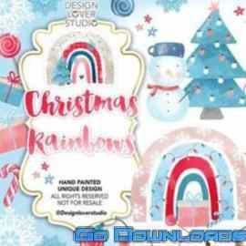 ASD Christmas rainbow design Free Download