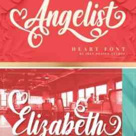 Angelist Heart Font Free Download