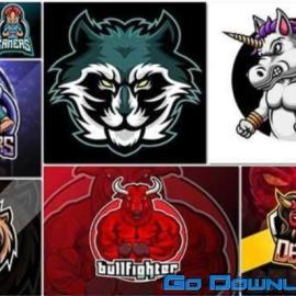 Bundle mascot logo vector design vol 11 Free Download