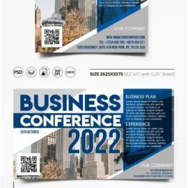 Business Conference 2021 Flyer PSD Template Free Download