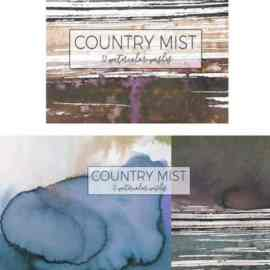 Country Mist -120 watercolor washes Free Download