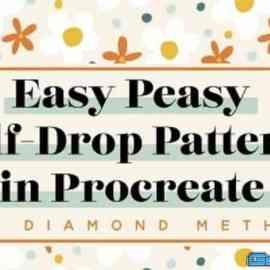 Easy Half Drop Patterns In Procreate : The Diamond Method