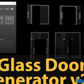 Glass Door Generator v2.0 for 3ds Max Free Download
