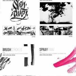 Graffiti Brushes & Actions MASTER Bundle Free Download