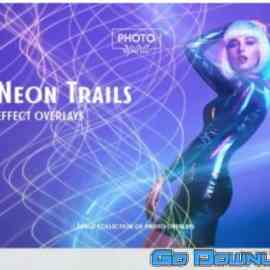 GraphicRiver Neon Trails Overlays Effect 33110455 Free Download