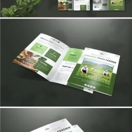 Organic Farm Feeder | Bifold Brochure Free Download